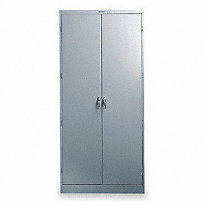 "Commercial Storage Cabinet, Medium Gray, 78"" H X 36"" W X 18"" D, Unassembled"