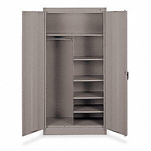 "Storage Cabinet, Medium Gray, 72"" Overall Height, Unassembled"