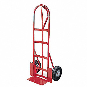 "Stair Climbing Hand Truck, Continuous Frame Loop, 500 lb., Overall Width 22"", Overall Height 51"""