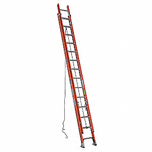 Extension Ladder, Fiberglass, IA ANSI Type, 28 ft. Industry Ladder Size