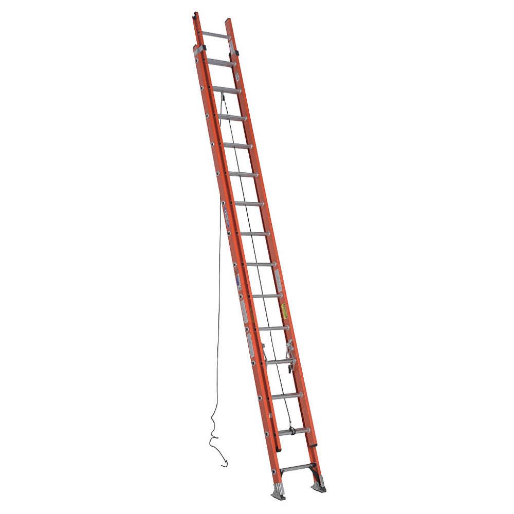 WERNER 28 ft. Fiberglass Extension Ladder, 300 lb. Load Capacity ...