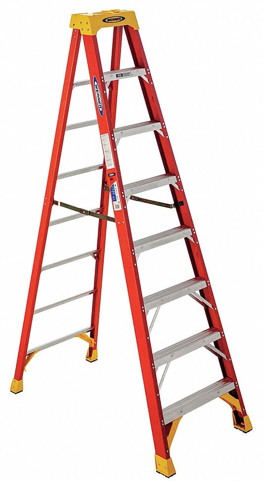 8 ft 300 lb Load Capacity Fiberglass Stepladder