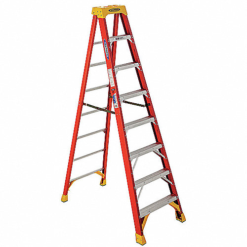 Werner escalera de tijera 300 lb 7 escalones escaleras for Escaleras 10 peldanos de tijera