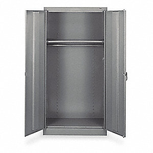 "Commercial Storage Cabinet, Medium Gray, 72"" H X 36"" W X 18"" D, Unassembled"