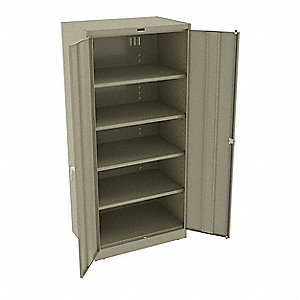 "Storage Cabinet, Sand, 78"" Overall Height, Unassembled"