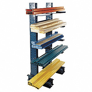 Starter Straight Cantilever Rack, No. of Sides: 1, 8 Arms, Arm Length: 24""