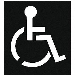 grainger approved traffic stencil handicap symbol 43 plastic 1 rh grainger com handicap logo sticker handicap logo pdf