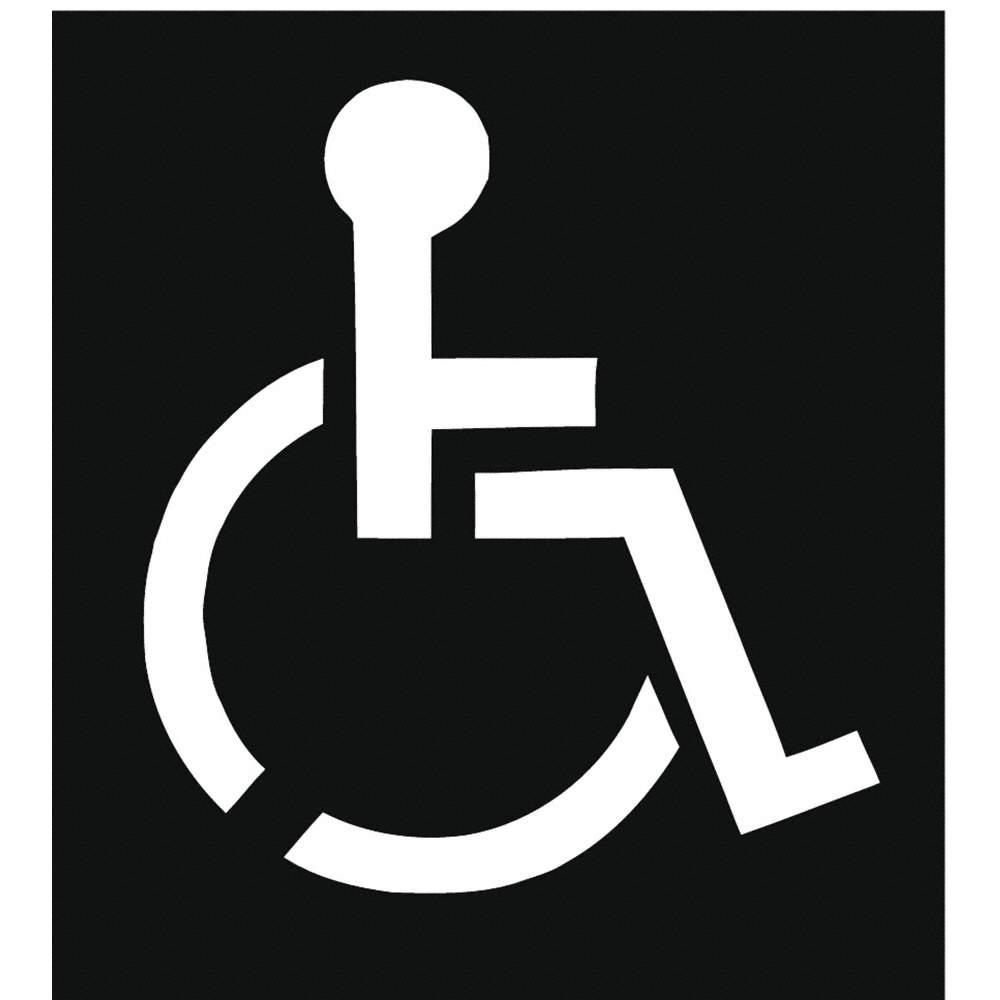 grainger approved traffic stencil handicap symbol 43 plastic 1 rh grainger com handicap logo png handicap lookup