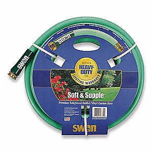 Water Hose,Rubber/PVC,3/4 In ID,75 ft L