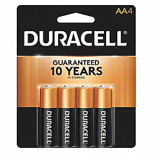 AA Standard Battery, CopperTop, Alkaline, PK4