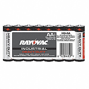 AA Standard Battery, Carbon Zinc, PK8
