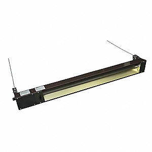 Electric Infrared Heater, Indoor/Outdoor, Ceiling/Suspended, Voltage 120, Watts 1500