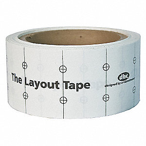 60 ft. Paper Layout Tape Measure, White