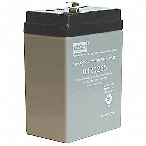 Sealed Lead Acid Battery, 4.5Ah Battery Capacity, For Use With Dual Lite Mfr. No. 0120255 and EZ-2,