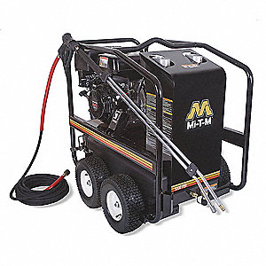 mi-t-m heavy duty (2800 to 3299 psi) gas cart pressure washer, hot water  type, 2 8 gpm, 3000 psi - 3wb80|gh-3003-3mgh - grainger