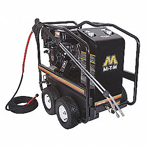 Heavy Pressure Washer, Hot Water Type, 3500 psi, 3.3 gpm