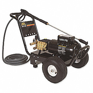 Pressure Washer, 2 HP, Cold Water Type, 1500 psi Operating Pressure, 2.0 gpm Flow Rate