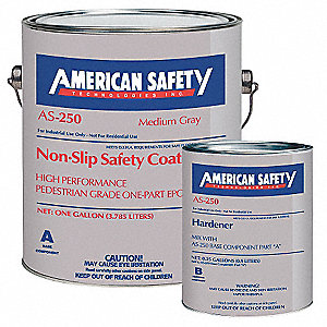 Matte Epoxy with Kevlar® Anti-Slip Floor Coating, Medium Gray, 1 gal.
