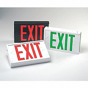 Exit Sign,1.7W,Green,2,Lifetime Warrant