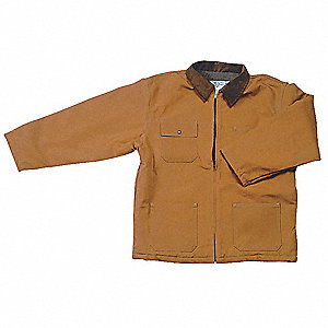 Chore Coat,Quilt Lined,Brown,2XL