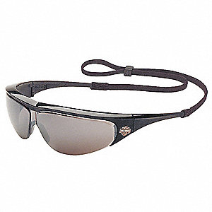 HD400 Scratch-Resistant Safety Glasses, Silver Mirror Lens Color