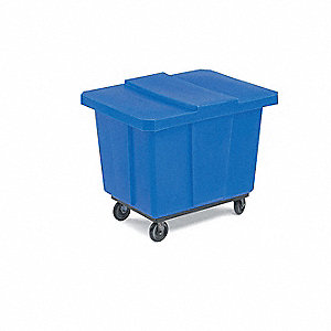 Cube Truck,10 cu. ft.,400 lb. Load,Blue