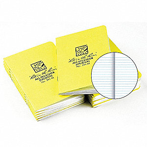 Water-Resistant Stapled Notebook,3 1/4