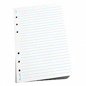 "Loose Leaf Paper, Journal Rule, 4-5/8 x 7"" Sheet Size"
