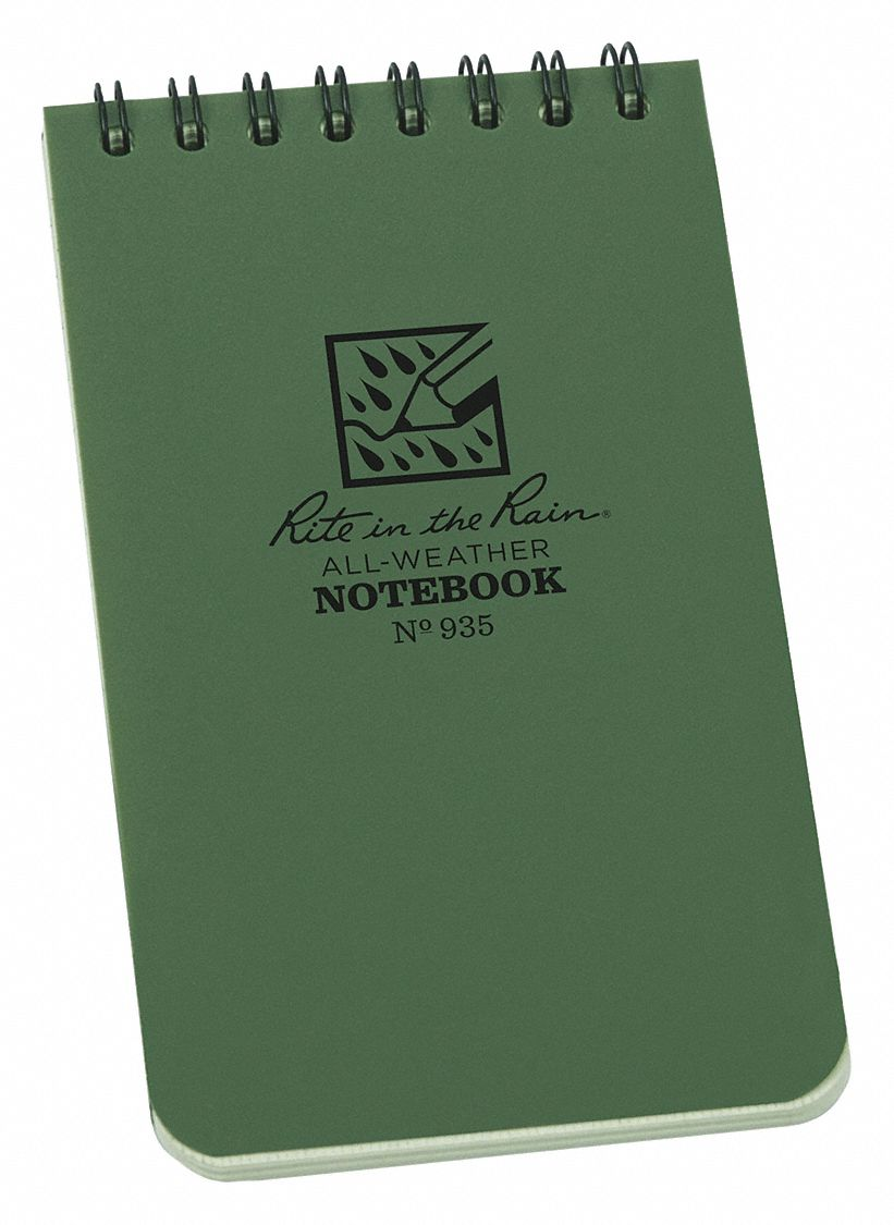 All Weather Notebook,  3 in x 5 in