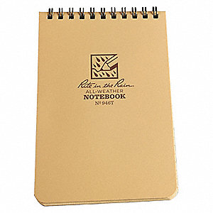 All Weather Memo Book,Universal,4 x 6In.