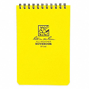 All Weather Pocket Notebook,Grid, 20 lb.
