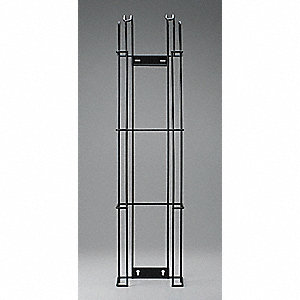 Wire Rack,Wall Mount,Metal,Black