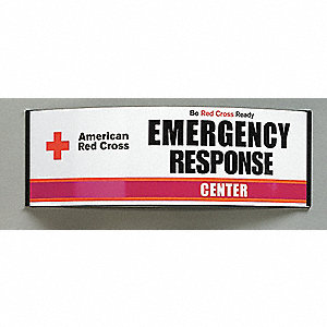 Emergency Sign,8-1/2 x 26-3/8In,ENG,SURF