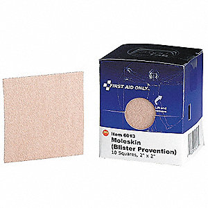 "Fabric Strip Bandages, 2"" x 2"", Beige"