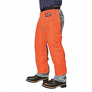"Chain Saw Chaps,Orange,Nylon,39"" L"