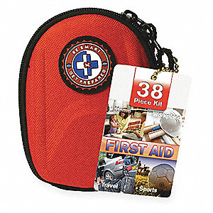 First Aid Kit, Kit, Nylon Case Material, General Purpose, 1 People Served Per Kit