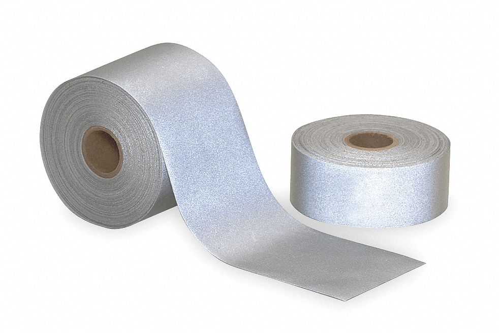 Silver Reflective Clothing Tape, Width 2 in, Length 23 ft