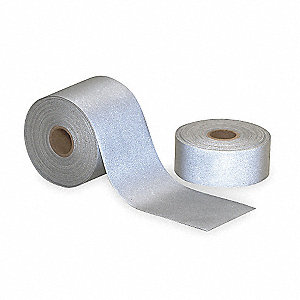 "Silver Reflective Clothing Tape, Width 2"", Length 23 ft."