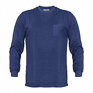 Long Sleeve T-Shirt,Navy,4XL