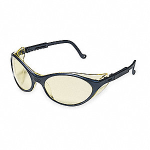 Bandit  Scratch-Resistant Safety Glasses, Amber Lens Color
