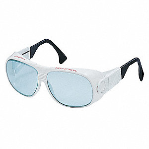 Wraparound Uncoated Laser Safety Glasses with Light Gray Lenses