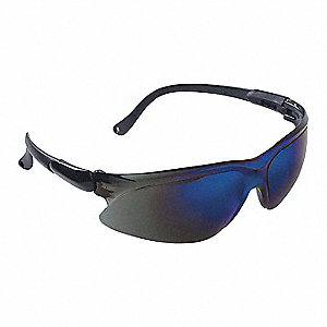 Jackson Safety V20 Visio Scratch-Resistant Safety Glasses, Blue Mirror Lens Color