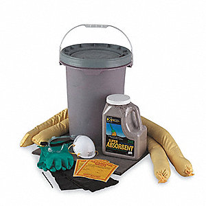 Oil Only/Petroleum Spill Kit, 6.5 gal. Bucket
