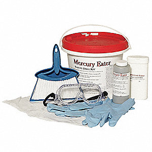 Mercury Spill Kit,128 oz.