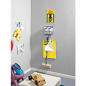 Spill Kit,2.5 gal.,Wall Mounted Rack