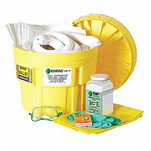 Spill Kit Refill, Chem/Hazmat, Brown