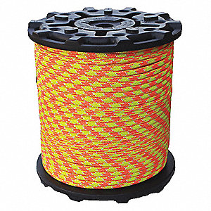 "7/16"" dia. Polyester Arborist Climbing Rope, Neon Orange/Yellow/White, 600 ft."