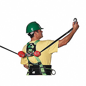 6 ft. Self-Retracting Lifeline with 400 lb. Weight Capacity, Red