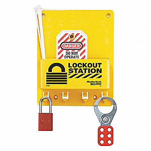 "Lockout Station, Filled, General Lockout/Tagout, 9-3/4"" x 7-3/4"""