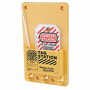 "Tag Station, Filled, General Lockout/Tagout, 7-3/4"" x 5-3/4"""